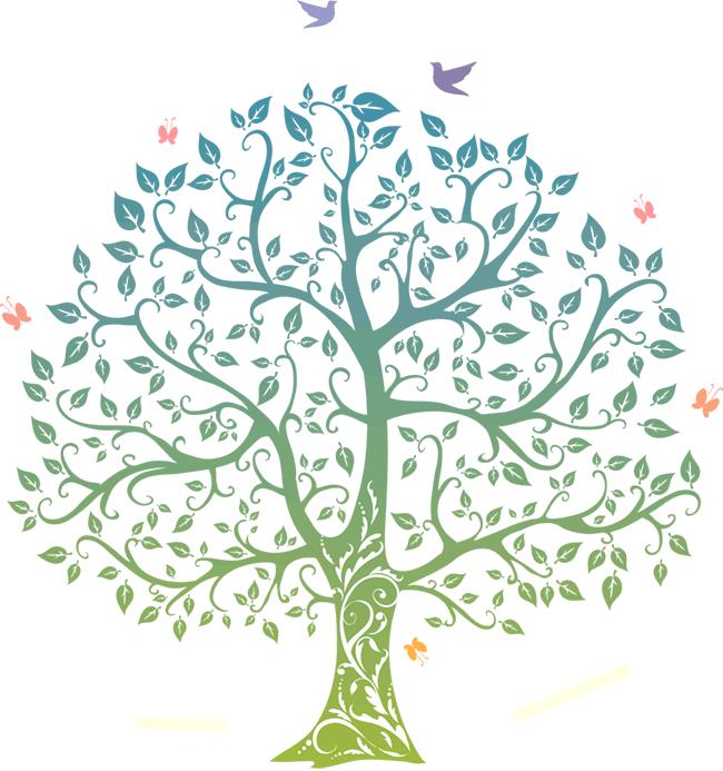 Шаблон свадебного дерева